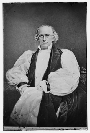George Washington Doane, the Bishop of New Jersey 1832-1859, in an early photograph. Brady-Handy Collection,Library of Congress.