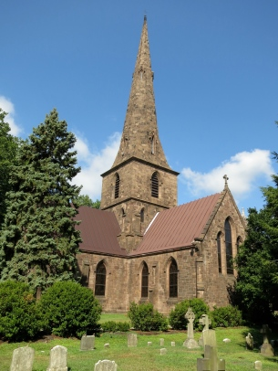 "The ""new"" Saint Mary's Church, Burlington, built between 1846 and 1854 to the design and under the supervision of Richard Upjohn."