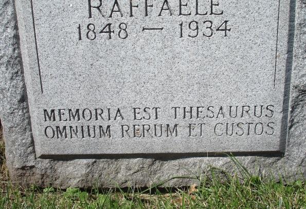 ESS E Orange Holy Sepulchre (west section) Raffaele Angelillo 1934 'MEMORIA EST THESAURUS OMNIUM RERUM ET CUSTOS' [cf. Cic. De Orat. 1.5] gml