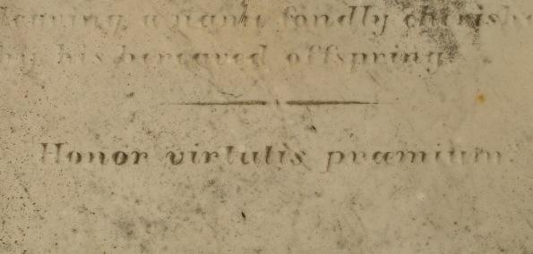 OCE Tuckerton Old Methodist Cem? Ebenezer Tucker mon 1845 'Honor virtutis præmium'